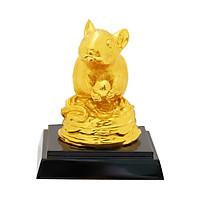 Tượng Chuột Sung Túc mạ vàng 24K - Quà tặng độc đáo, cao cấp năm Canh Tý cho sếp, khách hàng, đối tác, người thân