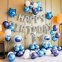 Set bong bóng trang trí sinh nhật cho bé chủ đề phi hành gia YBHP-001