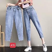 Quần baggy nữ cao cấp murad_fashion, quần baggy màu xanh bó chân lưng cao cá tính 2021 bgn415