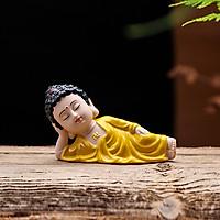 Tượng Phật nằm niết bàn - Phật Ông áo vàng
