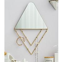 Gương treo tường kèm móc treo đồ - Gương đẹp cao cấp