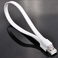 Dây cáp sạc điện thoại máy tính bảng micro USB Chính hãng Ugreen 10394 - Dây dẹt màu trắng dài 1M