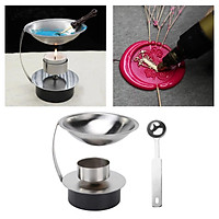 Seal Wax Melting Furnace Tool, Stainless Steel Wax Seal Warmer with Melting Spoon Kit Wax Melt Warmer Aroma Essential Oil Burner for Home Wedding