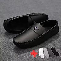 Giày Lười Nam Da Mềm, Đế Khâu, Khóa Kim Loại Angle Lê Sang - MD01