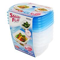 Hộp nhựa đựng thực phẩm Smart Flap 150mlx5