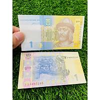 Tiền Ukraina 1 Hryven, đất nước châu Âu, mới 100% UNC, tặng túi nilon bảo quản The Merrick Mint