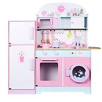 Set tủ lạnh nhà bếp đồ chơi gỗ cho bé