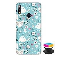 Ốp lưng điện thoại Asus Zenfone Max Pro M2 hình Họa Tiết Xanh tặng kèm giá đỡ điện thoại iCase xinh xắn - Hàng chính hãng