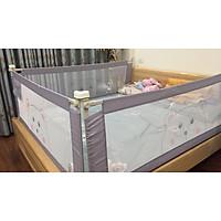 Bộ 2 thanh chắn giường mẫu gấu xám đủ kích thước