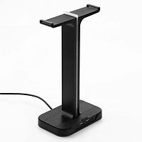 Giá treo kiêm giá đỡ tai nghe cổng USB kép hỗ trợ đèn LED Inphic H100 siêu đẹp và cá tính - Hàng chính hãng