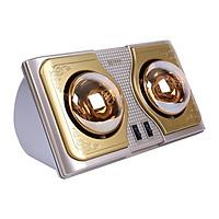 Đèn sưởi nhà tắm Kottmann 2 bóng hồng ngoại tráng kim cương nhân tạo chống chói-chống chập điện (K2BH)