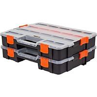 Bộ 2 cái hộp đựng dụng cụ ốc vít Tactix 320034