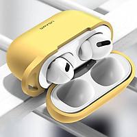 Bao case chống sốc silicon cho tai nghe Apple Airpods Pro hiệu Usams BH568 ( siêu mỏng 2mm, chống vân tay, chống bám bẩn, chống va đập, vật liệu cao cấp) - Hàng nhập khẩu