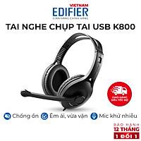 Tai nghe chụp tai có mic EDIFIER USB K800 Chống ồn Chân cắm USB- Hàng chính hãng