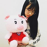 Gấu bông cao cấp Lợn mặc áo cờ Anh - Hồng