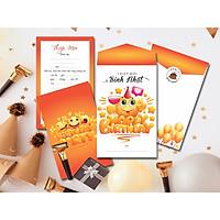 Combo 20 thiệp mời sinh nhật mặt cười màu cam DQ-2051-M