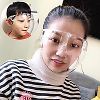 Mắt kính loại to che mặt chống dịch CAO CẤP Face shield .Chống giọt bắn bảo vệ sức khỏe che mắt, mũi, miệng