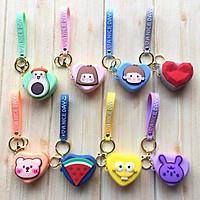 Móc chìa khóa kèm túi đựng tai nghe hình cute dễ thương