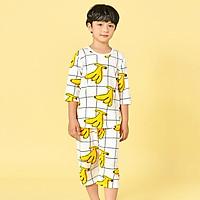 Bộ đồ lửng tay mặc nhà cotton giấy cho bé trai U2019 - Unifriend Hàn Quốc, Cotton Organic