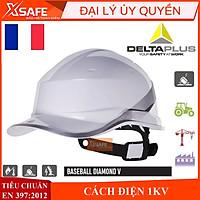 Mũ bảo hộ Deltaplus Baseball Dinamond V - nhựa ABS siêu cứng - Nón bảo hộ lao động cách điện 1KV (Kèm dây nón)