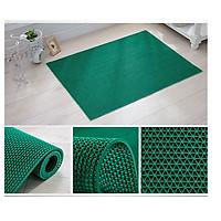 Thảm nhựa lưới chống trơn trượt màu xanh lá cho nhà cửa, nhà tắm, văn phòng, hồ bơi, khách sạn  khổ rộng 1m2  bảo vệ sự an toàn cho gia đình