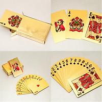 Bộ Bài Tây Poker Màu Vàng (Kèm Miếng Dán Mèo Thần Tài) - Giao Mẫu Ngẫu Nhiên