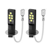 Car LED Fog lights 80W Pair Headlight Bulbs H3 LED Bulb 6000-6500K DRL Driving Lamp