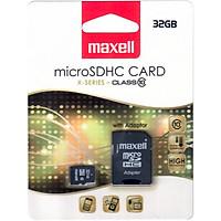 Thẻ Nhớ Micro SDHC 32G Class 10 (tặng kèm ADAPTER) - Maxell chính hãng