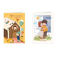 Combo 2 tấm Thiệp tình yêu love card - Greenwood (405)