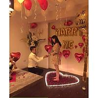 Set bóng trang trí tỏ tình, cầu hôn marry me lãng mạn