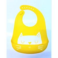 Yếm Ăn Dặm Silicon Mèo Con (Hình Shop Chụp)