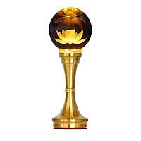 Cây đèn Led quả Cầu Hoa Sen pha lê trang trí bàn thờ, bàn thờ Phật