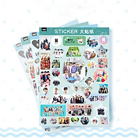 Set 4 tấm dán Sticker BTS