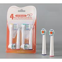 Bộ 4 Đầu Bàn Chải đánh răng điện cho mọi loại máy Braun Oral–B – Làm sạch răng vôi hóa, nhiều mảng bám - Xuất xứ: Anh