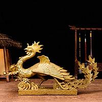 Tượng linh vật phượng hoàng bằng đồng thau phong thủy Hồng Thắng