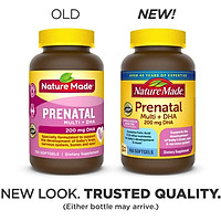 Thực phẩm bổ sung vitamin và DHA cho phụ nữ mang thai Nature Made Prenatal Multi +DHA 200mg, 150 Viên (Mẫu mới 2020) - Nhập khẩu Mỹ