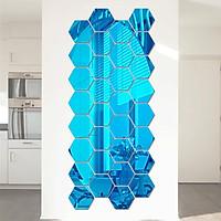 Gương Lục Giác Trang Trí Dán Tường Acrylic 3D (12 Mảnh)