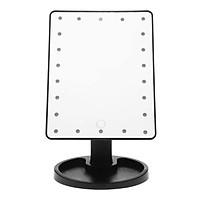 Gương Trang Điểm Có Đèn Led Xoay 180 Độ - Đen
