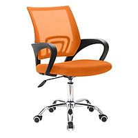 Ghế Lưới Văn Phòng Chân Xoay Nghiêng ngả BG Mẫu B màu cam (hàng nhập khẩu) thích hợp sử dụng ở cả văn phòng và nhà ở
