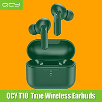 QCY T10 True Wireless Earbuds BT Headphones Dual Balanced Armature Drivers 4 Microphones Noise Cancellation Touch