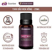Tinh dầu thiên nhiên Hoa Hồng - Essenbee - 20ml - Giải tỏa căng thẳng, thư giãn tinh thần, giảm stress. Dưỡng ẩm cho da, làm mờ vết thâm và hỗ trợ điều trị quầng thâm mắt. Khử mùi và tạo bầu không khí trong lành.