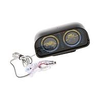 Car Angle Tilt 2-barreled Inclinometer Balancer Compass Backlight Clinometer