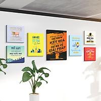 Bộ 7 tranh slogan canvas tạo động lực [trang trí văn phòng] vcb-e