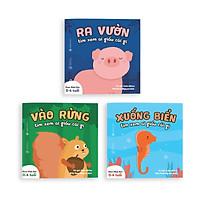 Sách Ehon - Combo 3 cuốn Ai giấu cái gì đó - Dành cho trẻ từ 0 - 4 tuổi