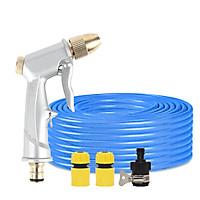 Bộ dây vòi xịt nước rửa xe, tưới cây , tăng áp 3 lần, loại 20m 206701-1 đầu đồng, cút, nối đen