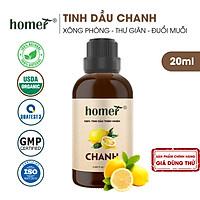 Tinh dầu thiên nhiên Chanh Homer - Dung tích 20ml / 100ml - Đạt chuẩn kiểm định cao cấp - An toàn cho sức khỏe - Đa công dụng