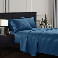 Elegant Comfort Pure Color Embossed Collection 4-Piece Bed Sheet Bed-cover & Pillowcase Set