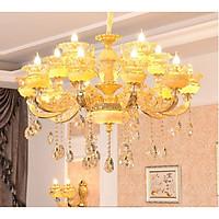 Đèn chùm SILVA pha lê trang trí nội thất sang trọng 15 tay - kèm bóng LED chuyên dụng