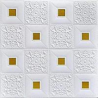 Combo 10 Xốp dán tường hoa văn cổ điển đá vàng