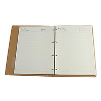 Business Writing Notebook Office Loose Leaf Classic Leather Notebook  Blue